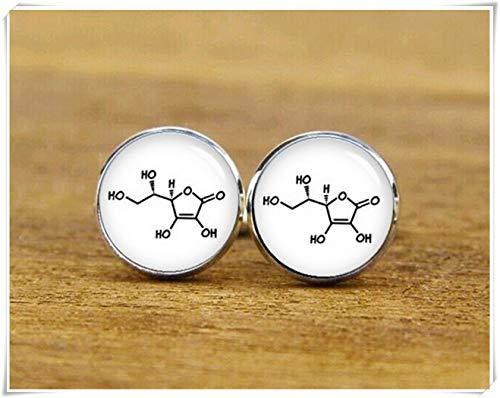 Beautiful Dandelion Vitamin c Cufflinks, Molecular Formula Cufflinks, Personalized Cufflinks