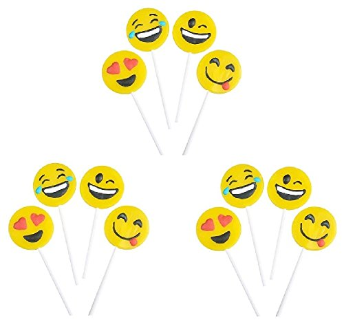 Novelty Treasures EXPRESSIVE Emoji Face Suckers  Birthday Pa