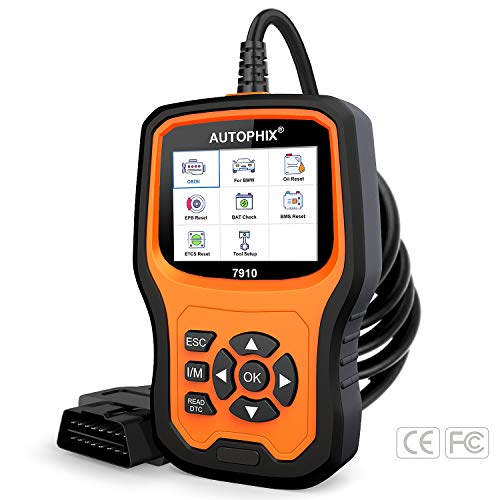 AUTOPHIX Diagnostic Scanner Tool for BMW Mini, 7910 OBD2 Scanner Multi-System Fault Auto Code Reader with Engine/ABS/CBS/EPB/DME/DDE/ECU/EGS/ASC/DSC/F Chassis Reset BMW Battery Registration Tool