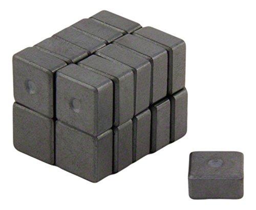 20/Unidades 10/x 5/mm Color Gris Magnet Expert first4magnets Y10/im/án de ferrita con Apoyo hasta 0,18/kg de Fuerza