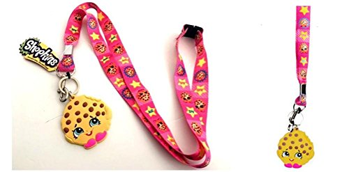 Shopkins Cookie Lanyard keychain Holder with Charm