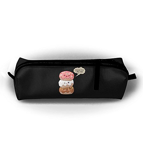 Donuts Stack Kill My Vibe Printing Portable Pen Holder Stationery Pencil Pouch Cosmetic Bags