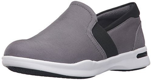 SoftWalk Womens Vantage Loafer Grey/Black