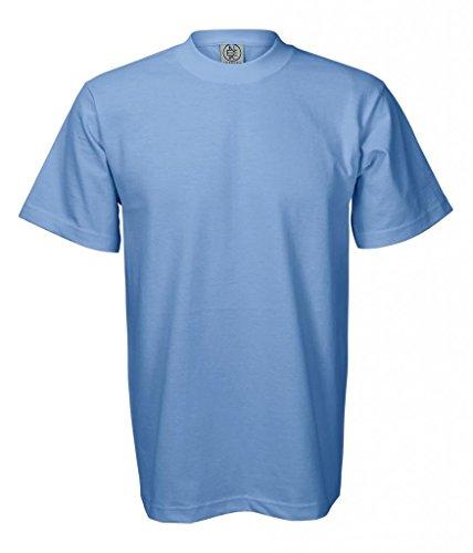 Enkalda Men's Premium Heavyweight T-Shirt Large Sky (Blue Sky Heavyweight T-shirt)