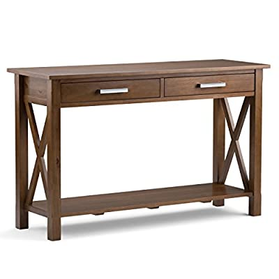 Simpli Home Kitchener Coffee Table, Dark Walnut Brown