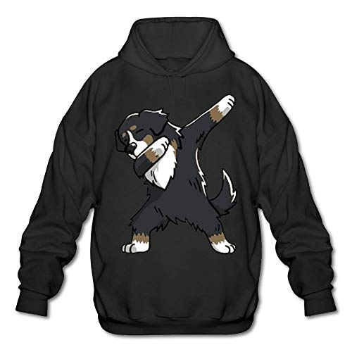 - Unisex Men's Dabbing Bernese Mountain Dog Basic Hooded Sweatshirt Hoodies Sweater Pullover Hoodie