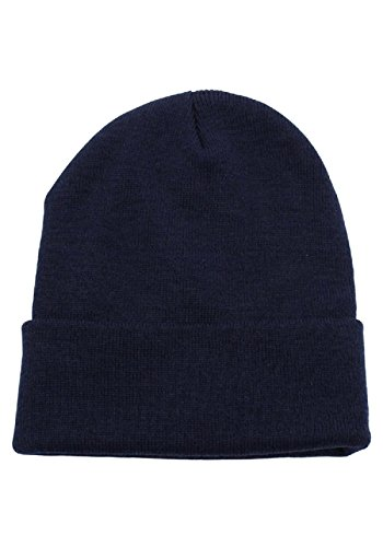 JMR Beanie Hat Men Women Winter Warm Hats Knit Thick Skull Cap (Navy)
