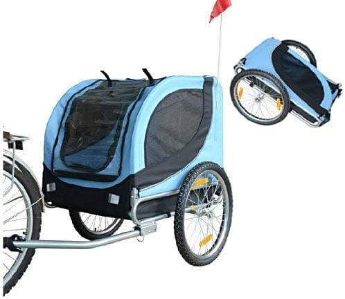 riotti - Remolque para Perros de Bicicleta, Azul y Negro, 130 x 90 ...