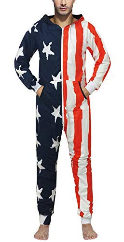One Piece Cosplay Costume American Flag Jumpsuit