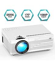 """Mini Proiettore, YABER LED Proiettore 2600 Lumen Home Cinema Intrattenimento con 170"""" Display Video Projector 1080P Supportato, Compatible con Fire TV Stick, PS4, HDMI, VGA, TF, AV e USB"""