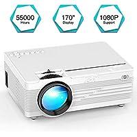 """Mini Proiettore, YABER LED Proiettore 2600 Lumen Home Cinema Intrattenimento con 170"""" Display Videoproiettore 1080P Supportato, Compatible con Fire TV Stick, PS4, HDMI, VGA, TF, AV e USB"""