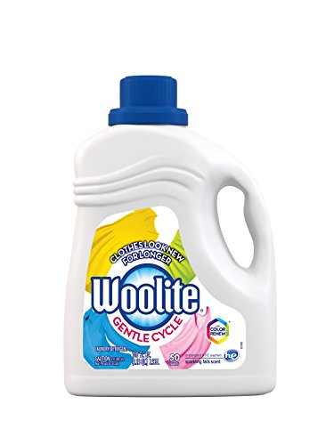 Woolite GENTLE CYCLE Liquid Laundry Detergent, 100 Fl Oz (50 loads) With Color Renew, HE & Regular Washers (Packaging May Vary) - Laundry Detergent For Dark Colors