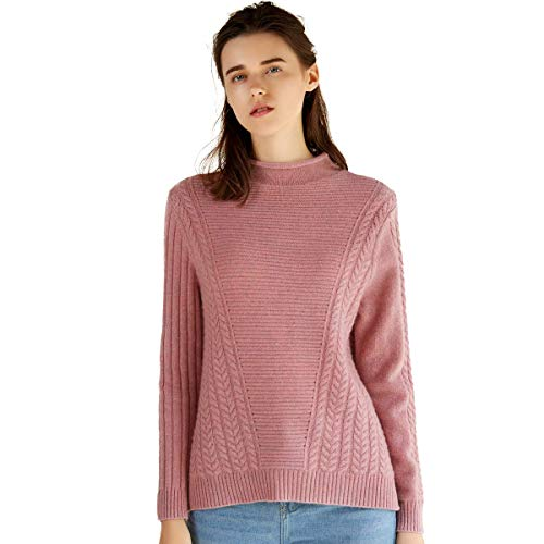 Hiver Pull Femmes Zhili Pour À Nouveau Manches Style Rose 2018 Cachemire Longues Rouge En vaqaZd