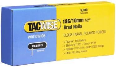 Tacwise 0392 stiftnagels 18G10mm verzinkt 5000 stuks grijs 10 mm