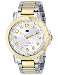 Tommy Hilfiger Women's 1781398 Analog Display Quartz Watch, Two Tone