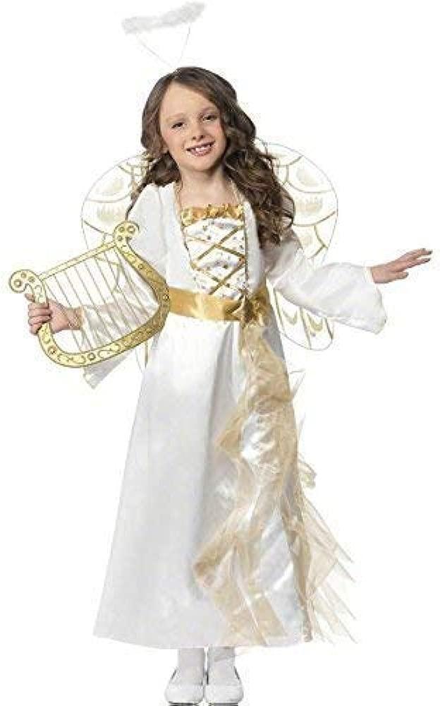 Larga para Niña longitud completa Blanco/Oro Angel Gabriel ...
