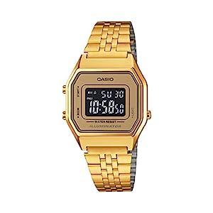 Casio LA-680WGA-9B–Clock with Quartz Movement, for Women, Gold Colour