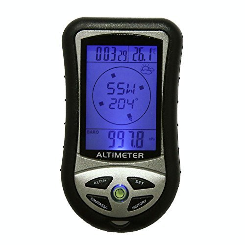 - new 8 in 1 Digital LCD Compass Altimeter Barometer Thermo Temperature Calendar Clock Camping Hiking