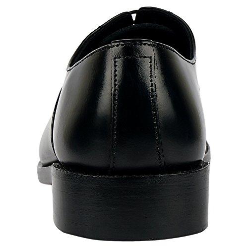 Dlt Mens Genuino Importato In Pelle Con Suola In Pelle Goodyear Scarpe Oxford Welted Nero