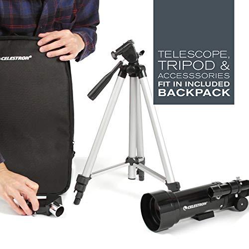 Celestron – 70mm Travel Scope – Portable Refractor Telescope – Fully-Coated Glass Optics – Ideal Telescope for Beginners…