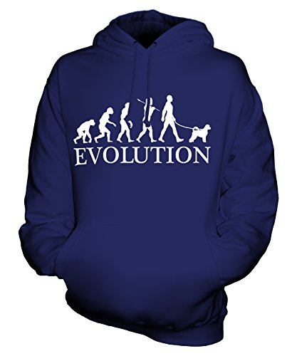 Sweatshirt Portuguese Water (CandyMix Unisex Portuguese Water Dog Evolution Of Man Mens/Womens Hoodie, Size 3X-Large, Color Navy)