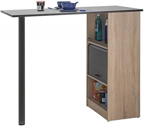 Simmob LUCKY131CNN - Mueble de Cocina con Mesa y pie de Metal ...