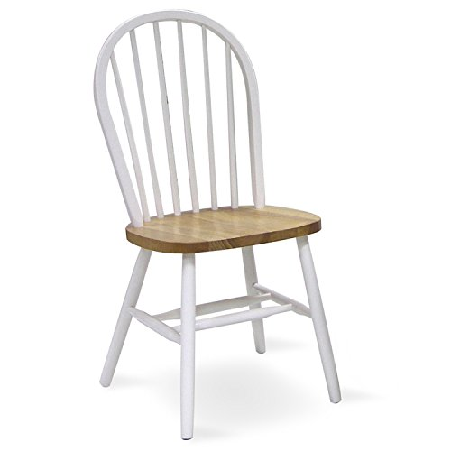 Spindle Back (International Concepts C02-212 37-Inch High Spindle Back Chair, White/Natural)