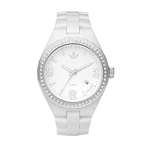adidas Originals ADH2505 - Reloj analógico de cuarzo para mujer con correa de caucho, color blanco
