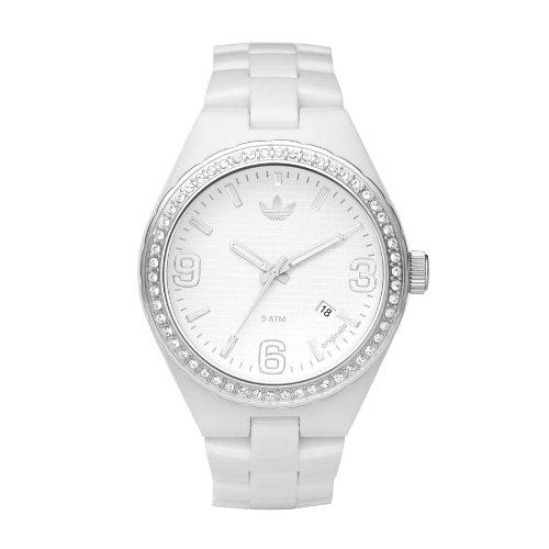 adidas Originals ADH2505 - Reloj analógico de cuarzo para mujer con correa de caucho, color blanco: Amazon.es: Relojes
