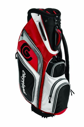 - Cleveland Golf Lightweight Cart Bag, Electric Red/Black