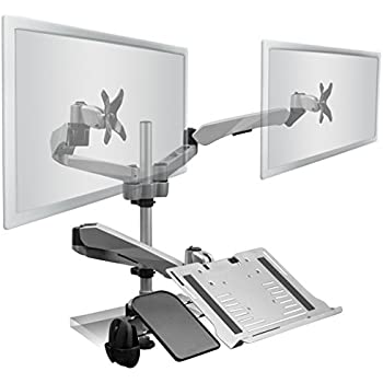 Amazon Com Mount It Dual Lcd Monitor Mount Fits 13 Quot 27
