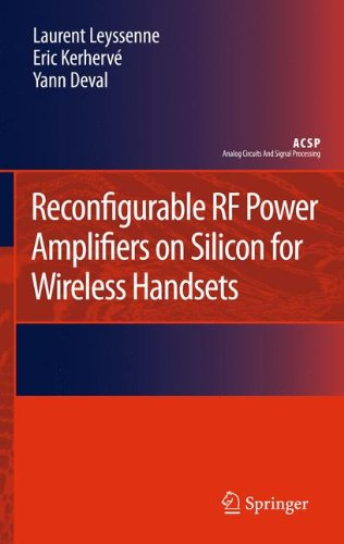 Price comparison product image Reconfigurable RF Power Amplifiers on Silicon for Wireless Handsets (Analog Circuits and Signal Processing)