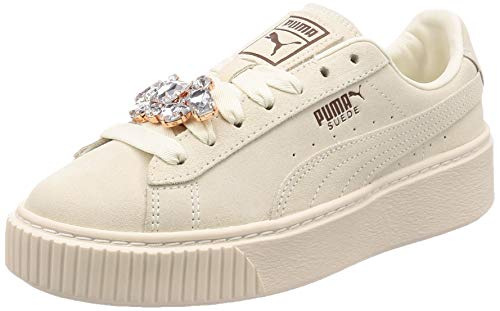 03 Platform Ginnastica Donna whisper Da White Suede whisper Basse Wn's White Gem Scarpe Puma Bianco xwa6S1Yq