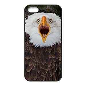 DIY Cover Case with Hard Shell Protection for Iphone 5,5S case with American Bald Eagle lxa#823132