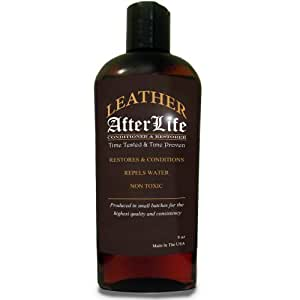 Leather Afterlife Leather Conditioner - The Best Leather Conditioner & Restorer for Cars, Furniture, Boots, Saddles, Purses & More 8 oz