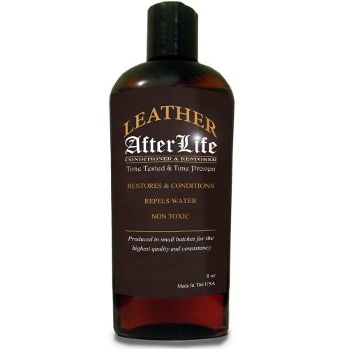 Leather Afterlife Leather Conditioner - The Best Leather Conditioner & Restorer for Cars, Furniture, Boots, Saddles, Purses & More 8 oz (Leather Couch Protectant)