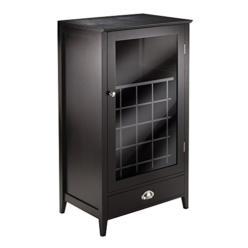 - Winsome Wood 25-Bottle Slot Modular Bordeaux Wine Cabinet
