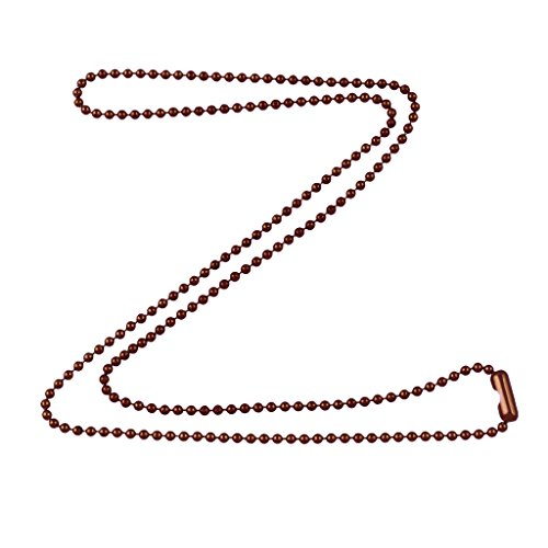 DragonWeave 1.8mm Fine Antique Copper Ball Chain Necklace with Extra Durable Color Protect Finish