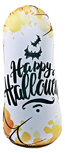 Bonk Fit High Performance Polyurethane Kids Inflatable Punching Bag Bop Toy PVC-Free with Machine Washable Designer Cover - (Sensory Friendly Halloween Party)
