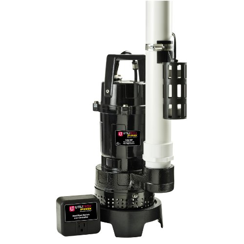 Utilitech Cast Iron/Aluminum 3/4-HP Submersible Sump Pump KLH075 240035 88-GPM by Utilitech Pro