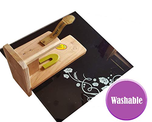 MDT India Table Top Teak Wooden Coconut Scraper Grater Shredder Movable Chirava Place Anywhere 4
