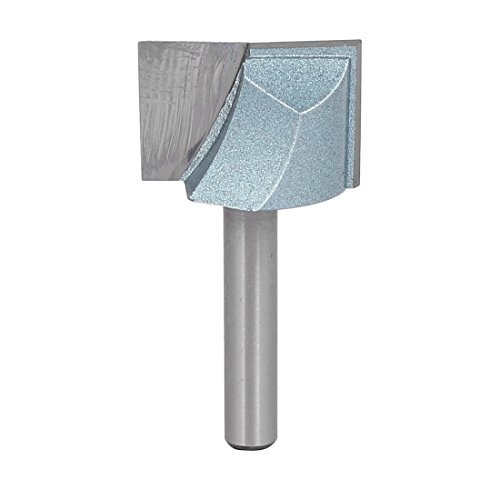 uxcell 1/4-Inch Shank 1-Inch Cutting Dia Double Flute Carbide Tipped Cleaning Bottom Router Bit