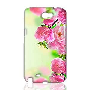 Blooming Peach Blossom 3D Rough Case Skin, fashion design image custom, durable hard 3D case cover, Case New Design for Samsung Galaxy Note 2 , By Codystore