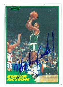 Autographed Basketball Archibald (Nate Tiny Archibald autographed basketball card (Boston Celtics) 1981 Topps #100)