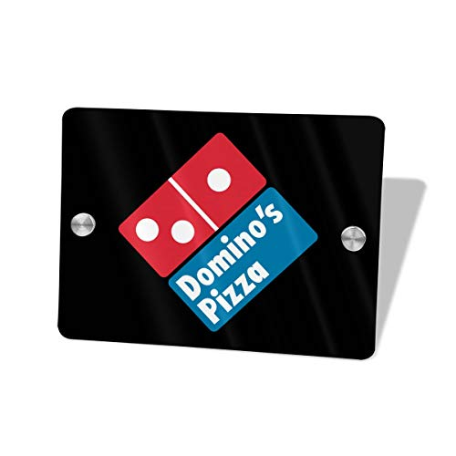 Layapan Door Sign Domino's Pizza Wall Decorative Signs Plaques for Offices Hotels Stores Home Decor