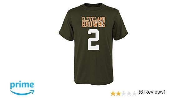 a59adb2778b5 Amazon.com : NFL New England Patriots Johnny Manziel Name and Number Tee :  Sports & Outdoors