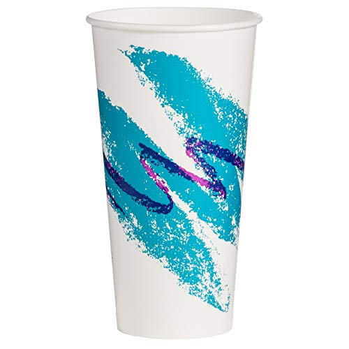 Solo RP24P-00055 24/26 oz Jazz DSP Paper Cold Cup (Case of 1000)