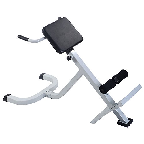 White & Black Steel Abdominal Trainer With Ebook by MRT SUPPLY