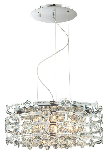 (Eurofase 20392-017 Mica 6-Light Pendant, Chrome)