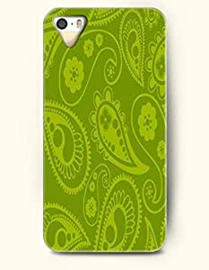 OOFIT Apple iPhone 5 5S Case Paisley Pattern ( Olive Drab Paisley Flowers )